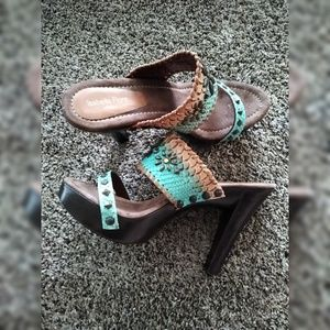 Isabella Fiore Wooden Platform Sandals SIZE 11